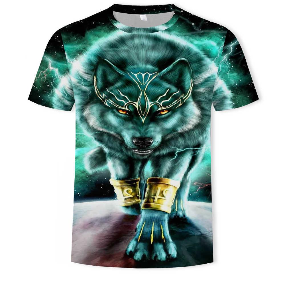 RelaxLife Hommes 3D Imprim/é T-Shirts Loup 3D Imprimer Animal Cool Dr/ôle T-Shirt Hommes /À Manches Courtes D/Ét/é Tops Tee Shirt T-Shirt M/âle De Mode T-Shirt M/âle 6XL