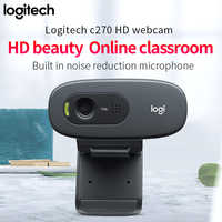 Logitech-ordenador portátil c270/c270i, HD, usb, webcam para ordenador portátil, 720p, con micrófono, cámara de conferencia inteligente