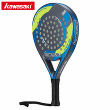 Kawasaki Brand Padel Tennis Carbon Fiber Soft EVA Face Tennis Paddle Racquet Carbon Racket with Padle Bag Cover with free gift