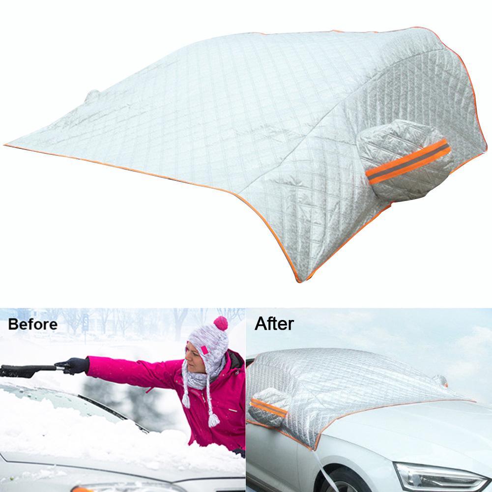 210*165 см автомобильный чехол на ветровое стекло, защита от солнца, защита от снега, мороза, защита от пыли, Универсальный Зимний автомобильный
