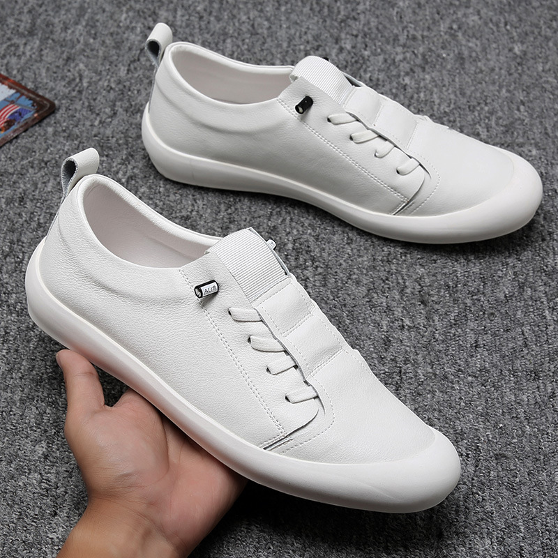 New Genuine Leather Shoes Men Sneakers