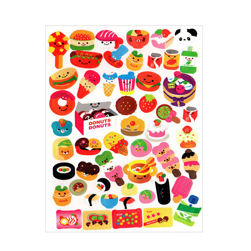 1 Sheet Hamburger Toy Sticker Mixture Stickers Doodling Travel DIY Stickers On The Car Motorcycle Luggage Laptop Bike Scooter(China)