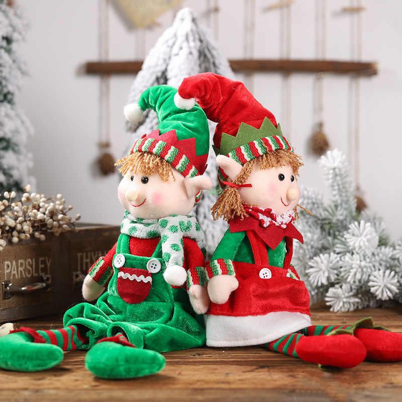 1 шт. рождественские Висячие ножки эльф сидение положение украшение куклы Детский подарок куклы-эльфы