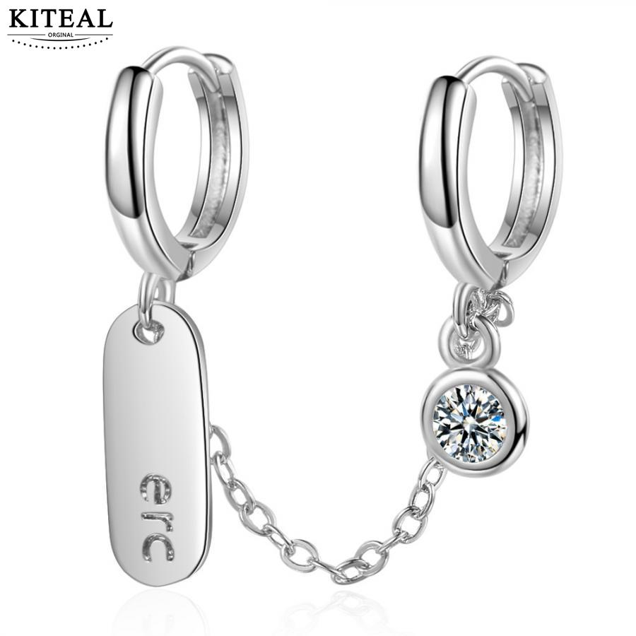 KITEAL Fashion Design silver color women clip on earrings Niche Check women earing Engagement Jewelry Accessories