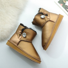 Australia nature wool women classic snow boos 100% genuiner leather ankle sheepskin winter shoes wholesale high quality