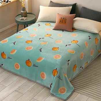 2020 Soft Warm Coral Fleece Blanket Winter Sheet Bedspread Sofa Plaid Throw 3 Size Light Thin Mechanical Wash Flannel Blankets