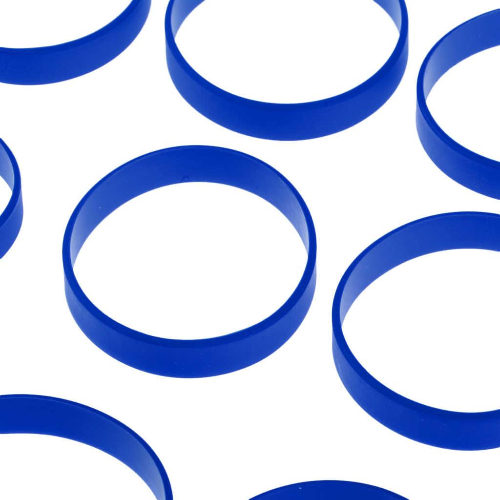60 sztuk puste opaski silikonowe opaski na rękę gumowe bransoletki Run Sport koszykówka bransoletka pasek mankiet