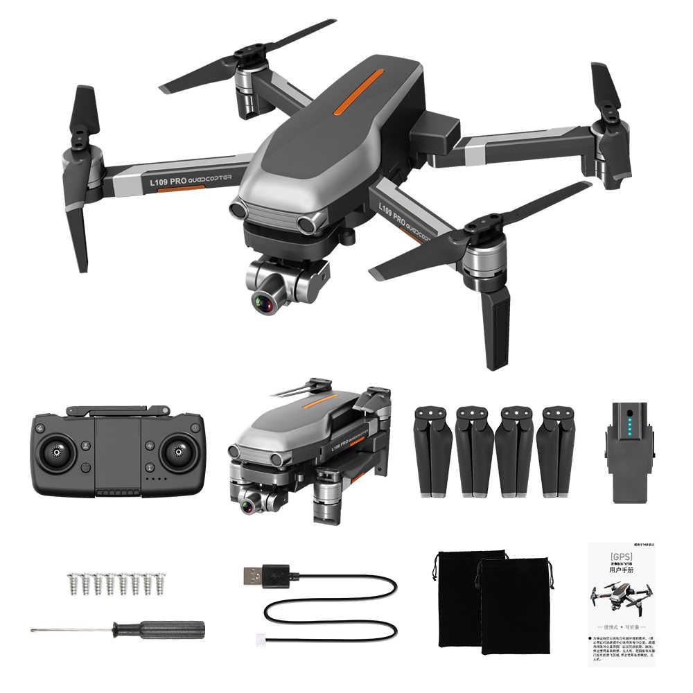 L109 برو GPS Drone مع 2 محور Gimbal مكافحة للاهتزاز Selfstabilizing Wifi FPV 4K كاميرا فرش Quadcopter VS SG906 برو F11 زن K1