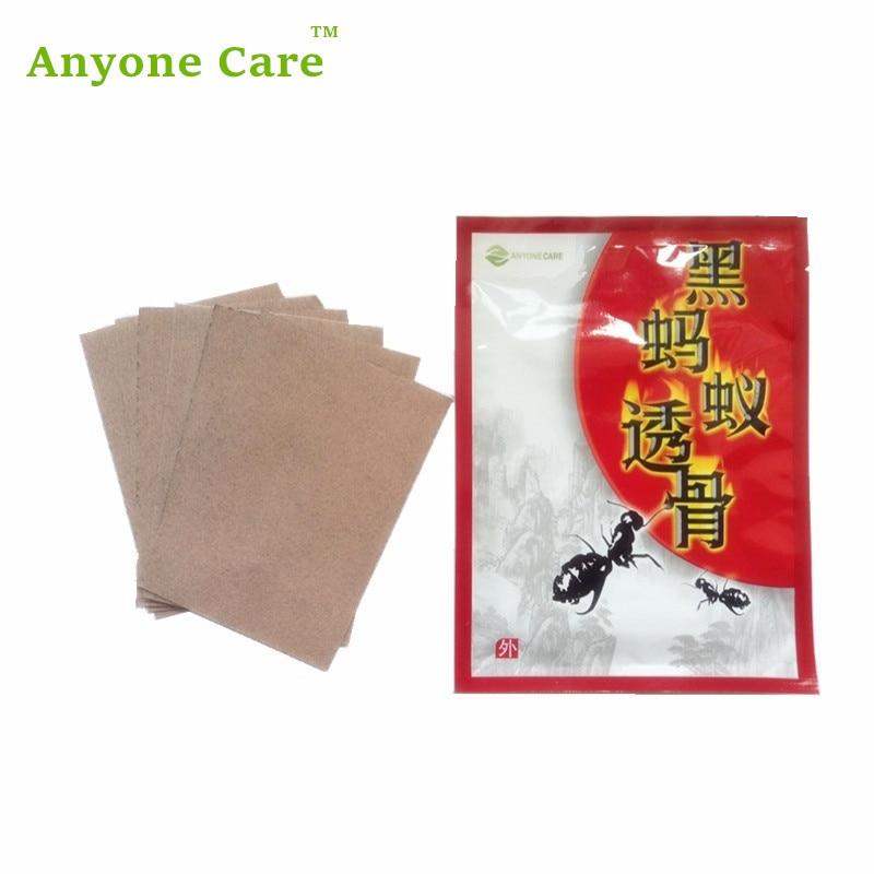 6бр / опаковка 100% естествени китайски билки лепенки стикери силни черни билкови мазилки костна става болка облекчаване на болка
