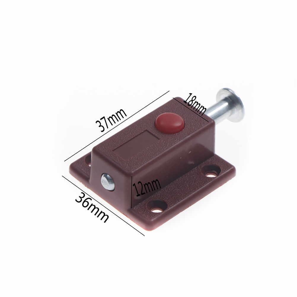 Voor Deur Window Kabinet Doos Kast Locker Thuis Bolt DIY Meubels Hardware 1Pc Self-lente Deur Bolt Klink thumb Lock