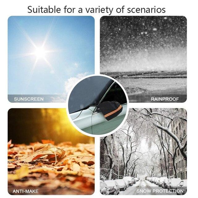 Couverture de pare-soleil pour voiture | Couverture de pare-brise pour voiture, tissu Oxford rideau Anti-UV pour fenêtre avant, accessoires universels quatre saisons