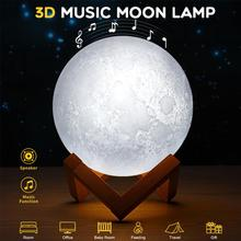 Moon-Lamp Led-Night-Light Brightness Usb Rechargeable Adjustable Music with Remote-Control