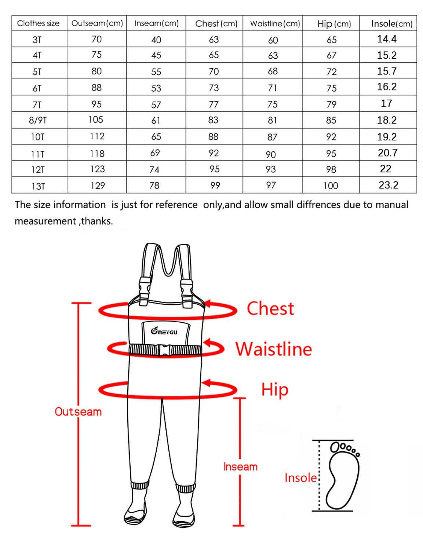 hanite 5mm engrossado criancas neoprene termico impermeavel peito wader botas borracha antiderrapante 02
