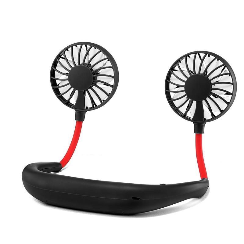 USB Portable Motion Neck Fan Handheld Fan 360° Universal Adjustment Multifunction Desk Fan With Rechargeable Battery