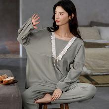 Пижама xifer женская из чистого хлопка повседневная Однотонная