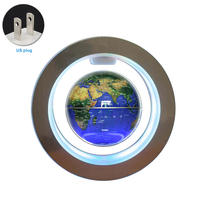 World Map Auto Rotating Led Office Floating Globe Earth Home Magnetic Levitation Anti gravity 4 Inch Illuminated Gift Desktop