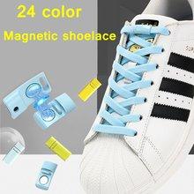 Пара эластичных шнурков магнитный металлический замок быстрое