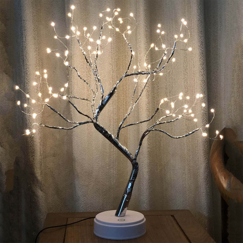 108led Beads Copper Wire Tree Branch Night Light With Touch