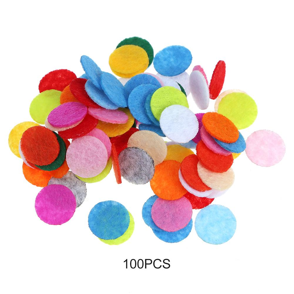 100pcs/set Mixed Color <font><b>Felt</b></font> Fabric Pads Patches DIY Sewing Wedding Clothing Decoration Handmade Crafts Decor Accessories image