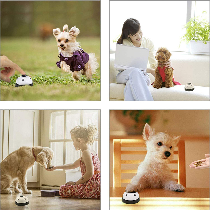 Pet Training Bells Dog Cat Training Eating Communication Press Call Bell Puppy Toilet Potty Training Interactive Toy-4