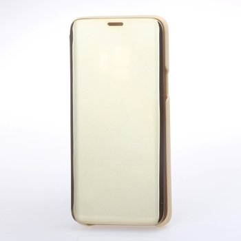 Golden Mirror Case Flip Stand Case Anti-scratch Shockproof Phone Protective Case Cover For Samsung S9 Plus Note 9 S8 image