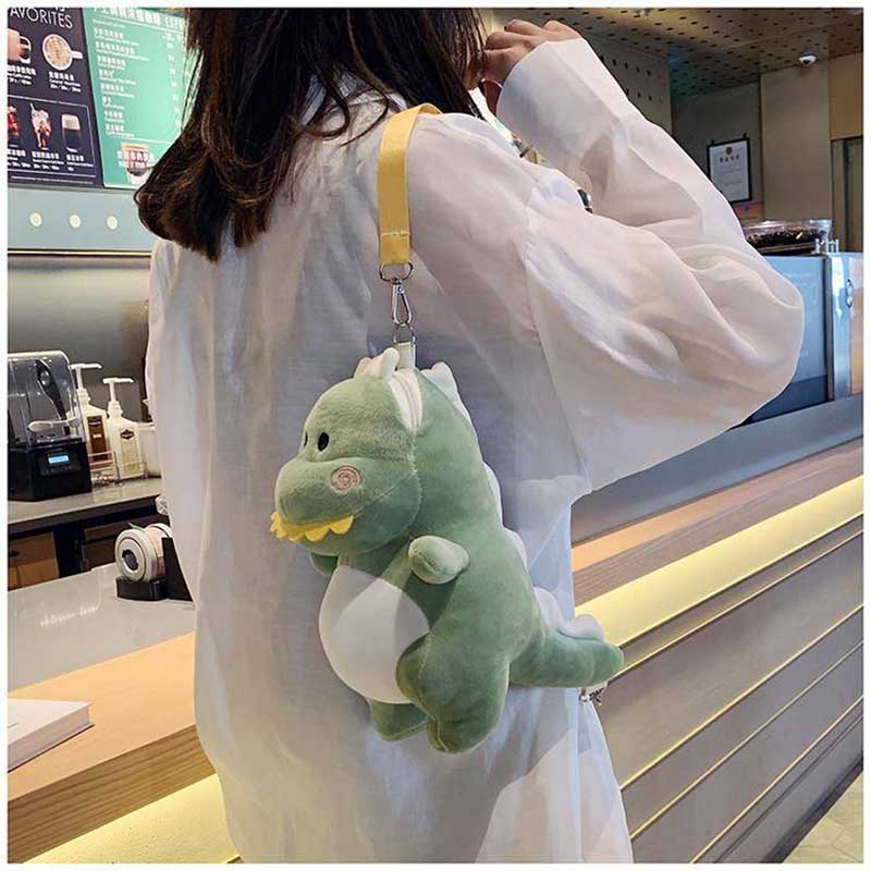 NiceMix Mini Plush Women Personality Shoulder Crossbody Bag Cute Dinosaur Girl Money Phone Bags Messenger Bag Fashion Purse
