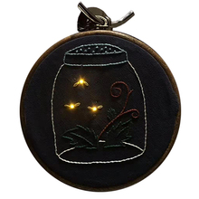 Handmade Electronic Embroidery Material Package Cute Glowing Firefly Home Decoration