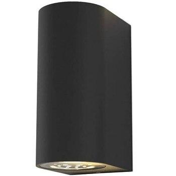Lampara de pared aplique LED 3000K IP65 rectangular Negro 12W
