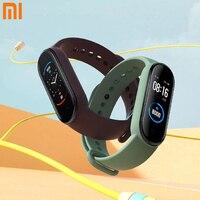 Global Xiaomi Mi Band 5 Smart Bracelet 1:1 grande schermo AMOLED frequenza cardiaca Fitness Traker Bluetooth 5.0 Sport cinturino impermeabile 5