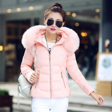 Winter Jacket Women Korean Down Cotton Jackets Coat Fur Hooded for Thick Plus Size Puffer