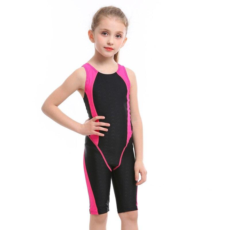 KID'S Swimwear GIRL'S Baby Cute One-piece Swimwear Big Virgin Girls Short One-piece Swimming Suit Swimming Training