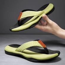 2021 Summer Men Flip Flops Beach Sandals Anti-slip High Quality Men Shoes Trendy Men Beach Slipper Big Size 45