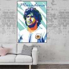Diego Maradona plakaty i wydruki artystyczne argentyna gwiazda futbolu płótno obraz na ścianę dekoracja wnętrz salon bezramowe