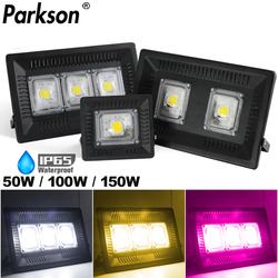 Cob Led Flood Light Spotlight 220V 150W 100W 50W Waterdichte IP65 Led Grow Licht Straat Lamp outdoor Verlichting Grote Power Reflector