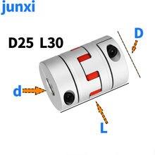 GS GR D25L30 Three Jaw Coupler Aluminium Plum Flexible Shaft Coupling Motor Connector CNC Flexible Coupler 5/6/6.35/8/10/12mm