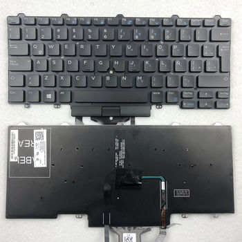 Latin Italian Backlit Laptop Keyboard For Dell Latitude E5450 E5470 E5480 E7450 E7470 E7480 LA IT Layout laptop keyboard for sony svs1512z9e svs1512z9r svs1513a4e svs1513b4e black without frame latin america la