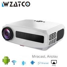 WZATCO C3 Neue LED Projektor Android 10,0 WIFI Volle HD 1080P 300 zoll Großen Bildschirm Proyector 3D Heimkino smart Video Beamer