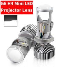 2PCS H4 G6 LED Hallo Low MINI Projektor Objektiv Scheinwerfer Für Auto Klar Dual Strahl Muster 12V 5500K KEINE Astigmatismus Problem 70W 12000LM