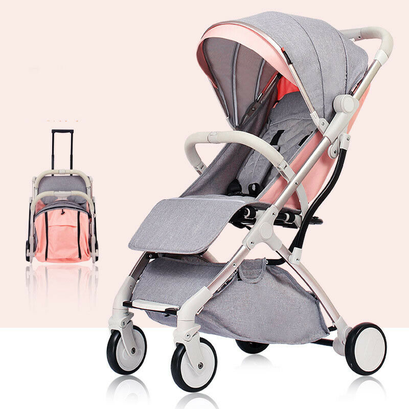 Free Shipping In EU High Landscape Light Weight Baby Stroller Can Sit Can Lie Baby Pushchair