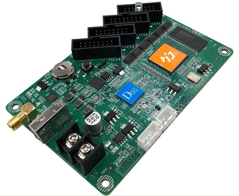 wifi usb hd 05 controlador de tela colorida hub75 4 interface cartao de controle de armazenamento