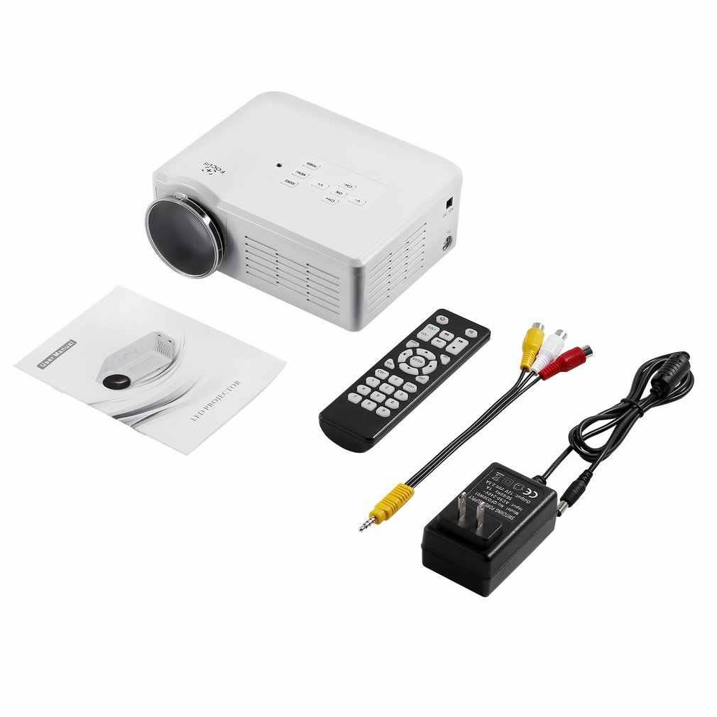 Mini LED Video projektör taşınabilir TV DVD oyun projektörler LCD HD Video 3D ev sineması eğitim HDMI VGA AV USB Beamer BL-35