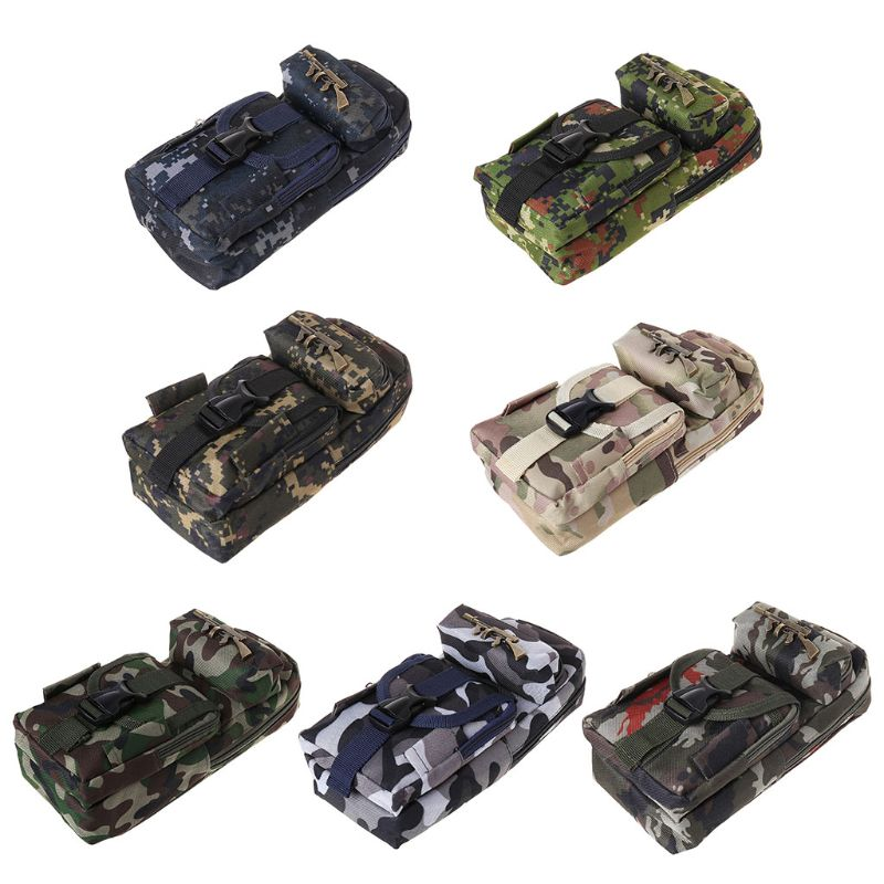 Student Camouflage Pencil Case For Boys Multifunction Large Capacity Pen Box Bag Kids Gift School Stationery Supplies 1014