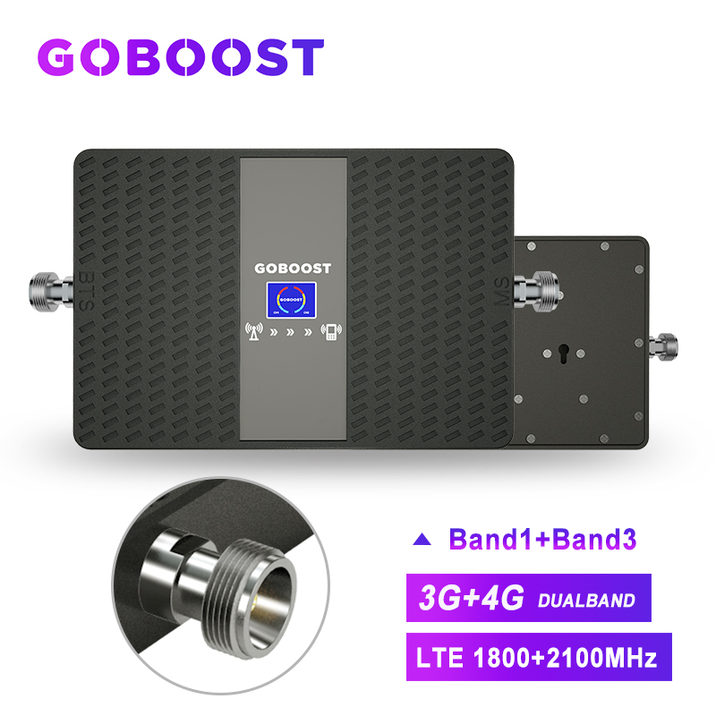 Repeater 4G Singal Booster 3G LTE 4G Cellular Signal Booster Signal For Mobile Phones GSM 1800 2100 Amplifier 70dB DCS UMTS -