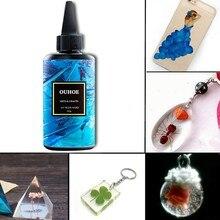 30/100/200g resina ultravioleta cola dura cura gel uv diy jóias artesanato que faz d0jd