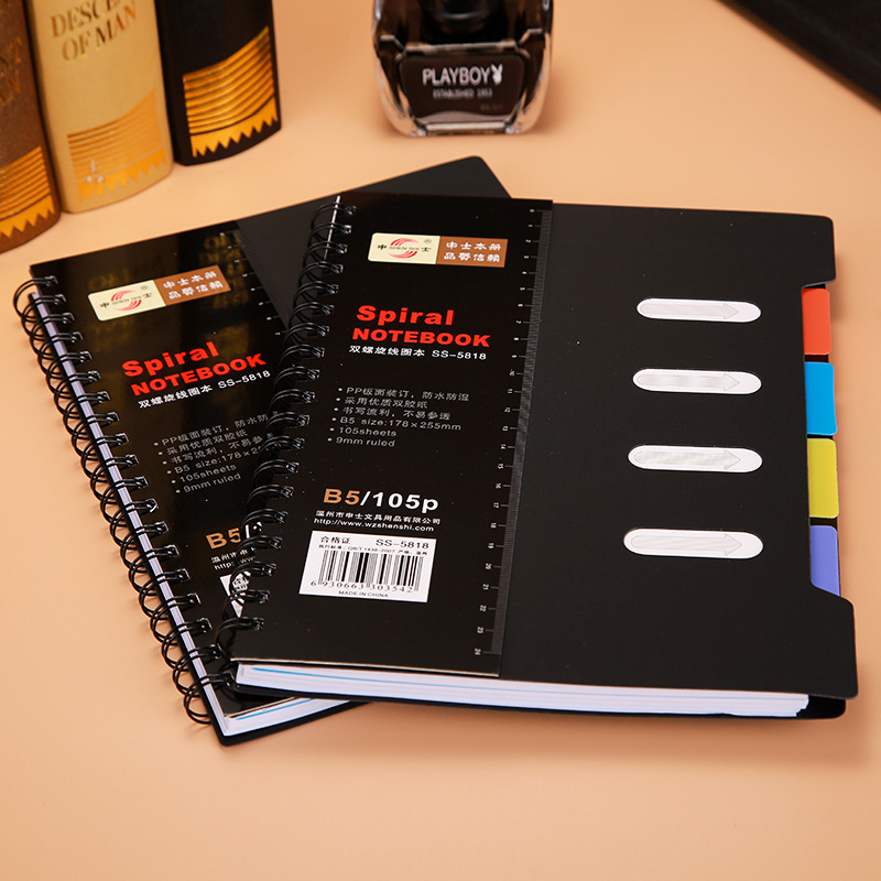 A6 A5 B6 Spiral Classified NoteBook Loose-leaf Bussiness Note book Student Graffiti Book Office School Supplies