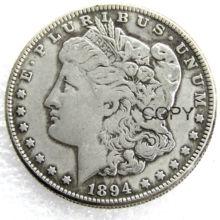 Монеты США 1894 шт/С/о Морган, копия доллара монеты, посеребренные