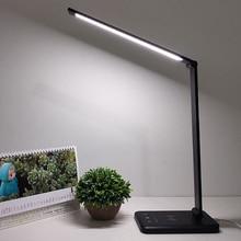 52pcs 2835 LED מנורת שולחן מתקפל Dimmable Rotatable עין טיפול LED מגע רגיש בקר USB טעינת נמל שולחן מנורה
