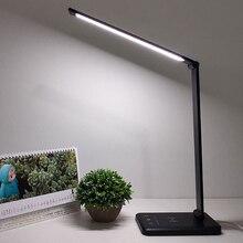 52pcs 2835 โคมไฟตั้งโต๊ะ LED หรี่แสงได้ LED Touch Sensitive USB ชาร์จพอร์ตโคมไฟ
