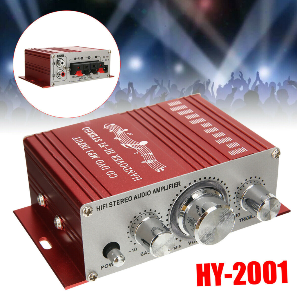 HY-2001 12V Mini HiFi Power Amplifier Stereo 2  Auto Audio Digital Amplifier For Car DVD Mini Moto Home Radio MP3 Player
