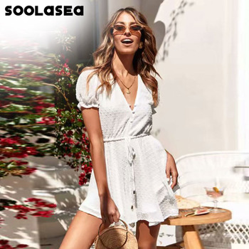 lace floral sexy playsuit women body romper overalls lady jumpsuit summer v neck short sleeve bodycon party outfits clothes Soolasea Sexy v neck boho beach romper women short sleeve short jumpsuit 2020 white jacquard playsuit summer macacao feminino